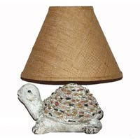Crown Lighting 1-light Ceramic Turtle Table Lamp