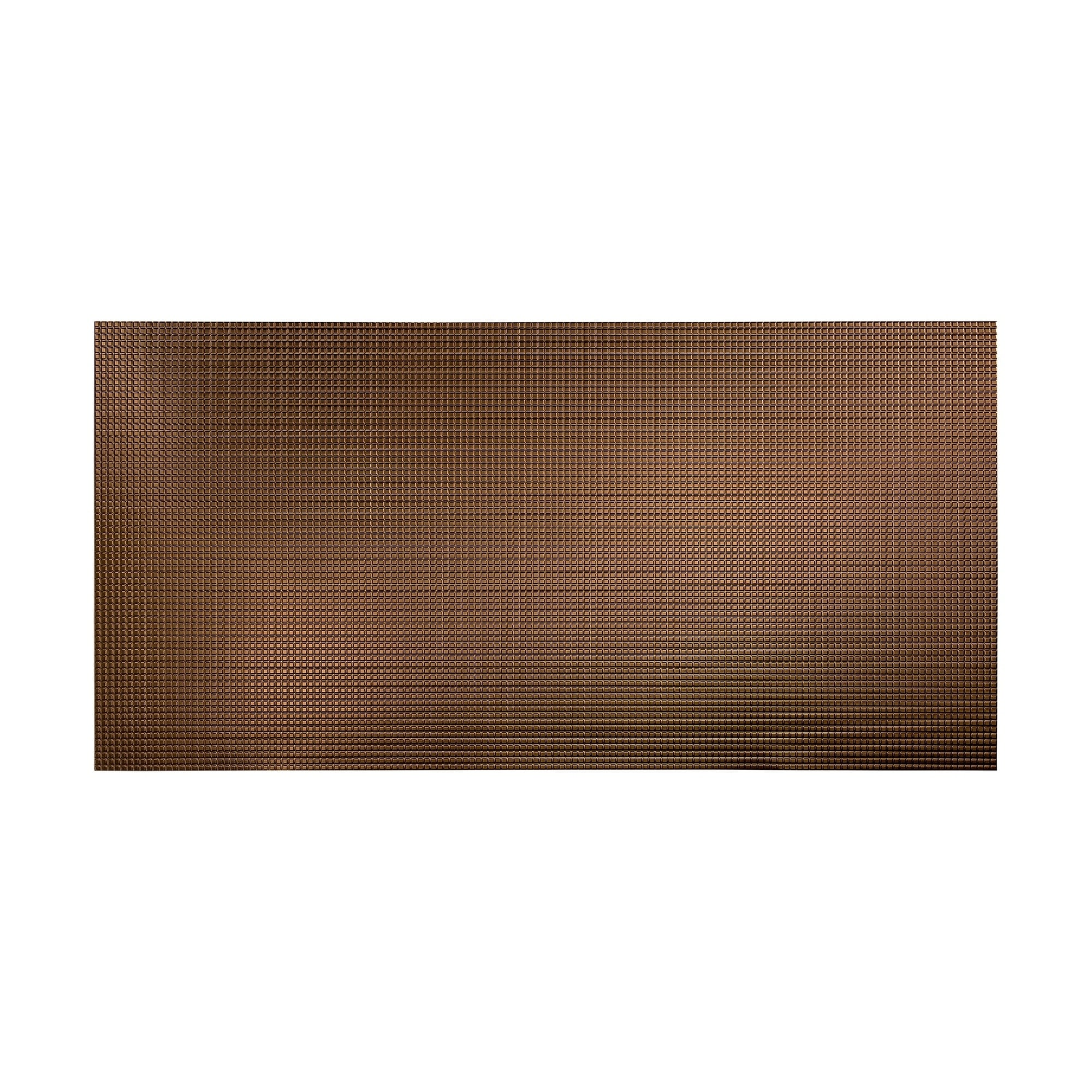Fasade Diamond Plate Oil-Rubbed Bronze 4-foot x 8-foot Wa...