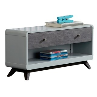 Palm Canyon Begonia Dressing Bench, Gray