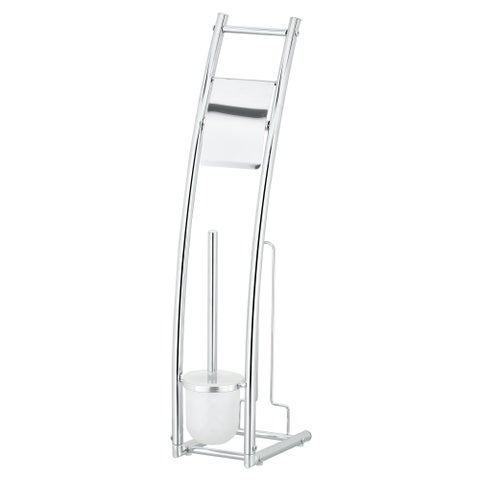 Furinno Wayar Toilet Brush with Paper Holder Stand, WS17201