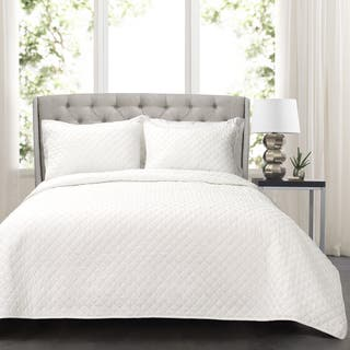 Lush Decor Ava Diamond Oversized Cotton 3 Piece Quilt Set (As Is Item)|https://ak1.ostkcdn.com/images/products/18127644/P91027187.jpg?impolicy=medium