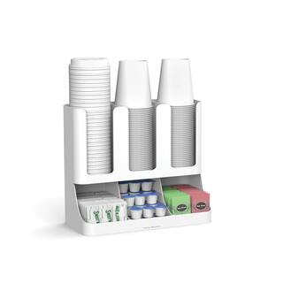 Mind Reader 'Flume' 6 Compartment Upright Coffee Condiment and Cups Organizer, White|https://ak1.ostkcdn.com/images/products/18127662/P24280457.jpg?impolicy=medium
