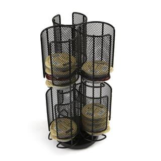 Mind Reader 2 Tier Mesh Spinning Tassimo Storage Rack, Black|https://ak1.ostkcdn.com/images/products/18127672/P24280462.jpg?impolicy=medium
