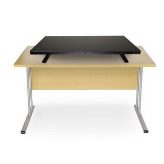 Mind Reader Black Metal Electric Powered Adjustable Standing Desk