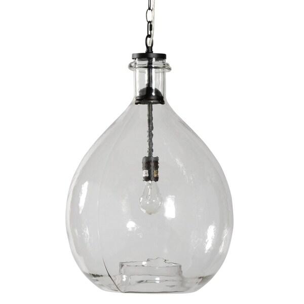 Alden Décor Large Greta Pendant in Clear Glass