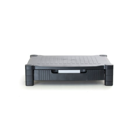Mind Reader 'Harmonize' Adjustable Plastic Monitor Stand with Drawer, Black