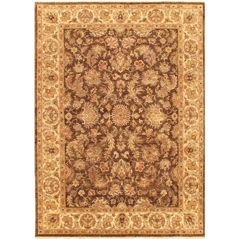 Pasargad Agra Collection Hand-Knotted Wool Rug