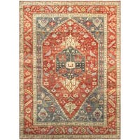 "Pasargad Serapi Collection Hand-Knotted Red Wool Rug (10' 0"" X 14' 0"")"