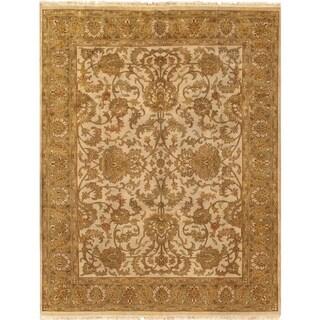 "Pasargad Tabriz Ivory/S. Green Wool Area Rug ( 9' 2"" X 11' 9"") - 9' 2"" x 11' 9"""
