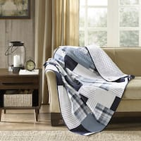 Woolrich Riverview All Season Reversible Oversized Cotton Percale Quilted Throw