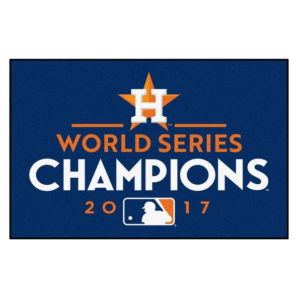 """Houston Astros 2017 World Series Champions Starter Rug 19""""x30"""". Opens flyout."""