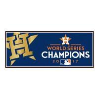 """Houston Astros 2017 World Series Champions Baseball Runner Mat 30""""x72"""""""