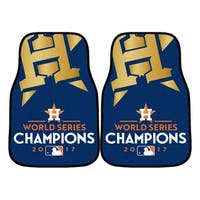 """Houston Astros 2017 World Series Champions 2-piece Carpeted Cat Mats 18""""x27"""""""