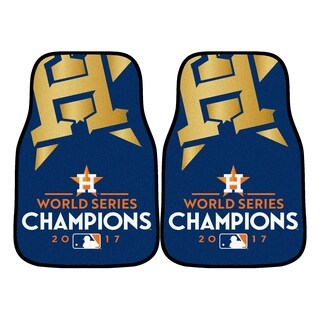 "Houston Astros 2017 World Series Champions 2-piece Carpeted Cat Mats 18""x27"""