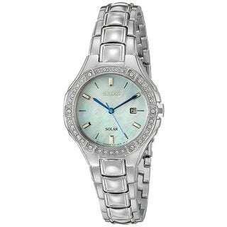 Seiko Women's Sport SUT281 Solar Swarovski crystals Stainless Steel Watch