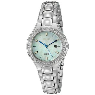 Seiko Women's Sport SUT281 Solar Swarovski Crystal Elements Stainless Steel Watch