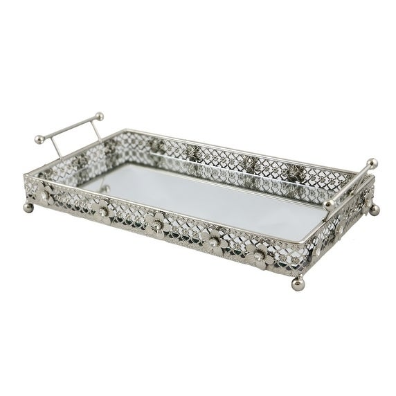 323a36f78d Shop Jeweled rectangular serving tray with handles - Free Shipping Today -  Overstock - 18128098
