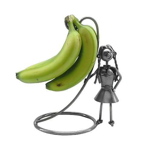 Metal banana holder with girl character