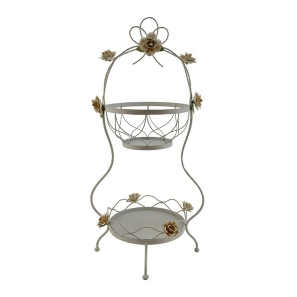 Metal double tier basket / stand for fruits