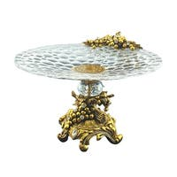 Oval bowl with gold and crystal decoration