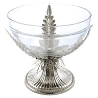 Bejeweled round serving bowl with crystals