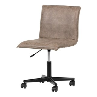 South Shore Munich Antique Light Brown Mid-back office chair with black legs