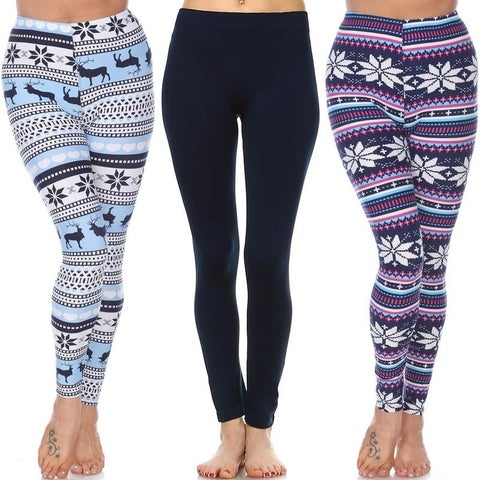 White Mark Women's Pack of 3 Leggings