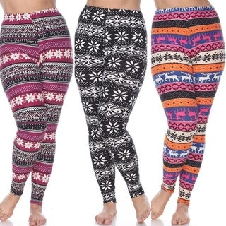 Pack of 3 Plus Size Leggings (Option: Red) https://ak1.ostkcdn.com/images/products/18128131/P24280812.jpg?_ostk_perf_=percv&impolicy=medium