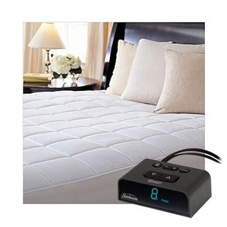 Sunbeam MSU4BTS-D000-43A66 ComfortTec Quilted Heated Electric Mattress Pad Twin - White