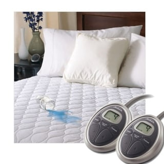 Sunbeam SelectTouch Waterproof Quilted Electric Heated Mattress Pad - King Size - White