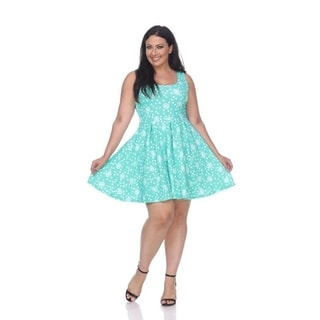 Plus 'Crystal' Floral Dress