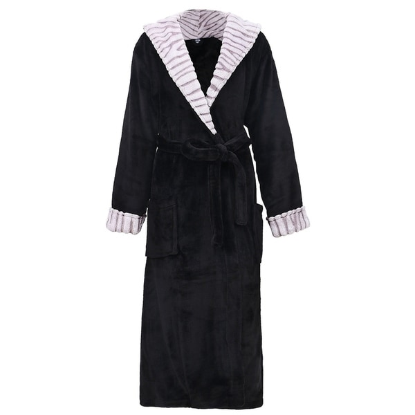 Bathrobe: Shop Women's Luxurious Hooded Solid Flannel Fleece