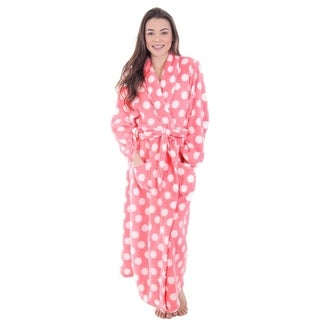 Women's Fleece Plush Wrap Kimono Robe Bathrobe with Pockets