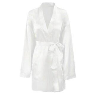 Women's Short Satin Plus/Regular Sleepwear Kimono Robe, One Size