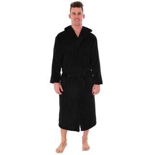 Unisex Plush Fleece Hooded Robe Kimono Bathrobe Sleepwear
