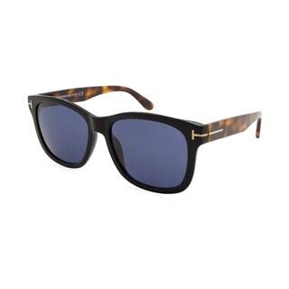 Tom Ford/Cooper/TF0395-01V/Men's/Black and Tortoise Frame/Blue Lens/Sunglasses