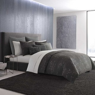 Vera Wang Charcoal Floral Comforter Set