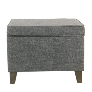 HomePop Medium Storage Ottoman - Slate Gray