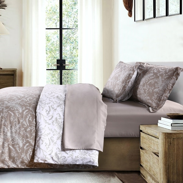 Winter Brush Reversible Down Alternative Comforter and Sham Set
