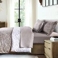 Beautiful Floral Print Winter Brush Reversible Down Alternative Comforter and Sham Set by Southshore Fine Linens