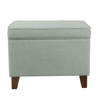 HomePop Medium Storage Ottoman - Aqua