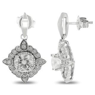 Auriya 18k White Gold 1 3/8ct TDW Diamond Earrings