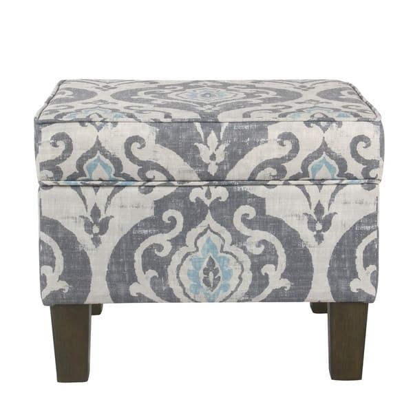 Super Shop Homepop Suri Storage Ottoman Blue Slate On Sale Camellatalisay Diy Chair Ideas Camellatalisaycom