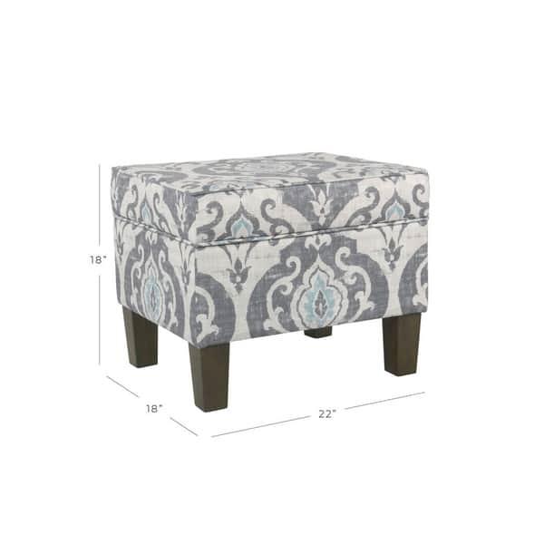 Astonishing Shop Homepop Suri Storage Ottoman Blue Slate On Sale Unemploymentrelief Wooden Chair Designs For Living Room Unemploymentrelieforg