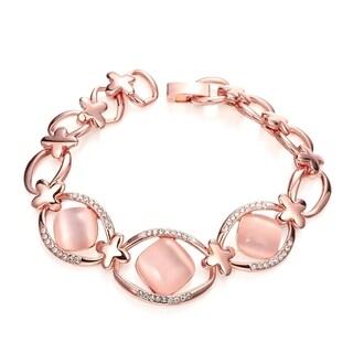 Rose Gold Plated Pink Zircon Bracelet