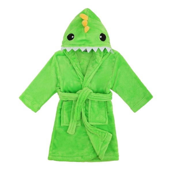 f88449cddb Arctic Paw Animal Adventures Plush Soft Hooded Terry Bathrobe - Dinosaur
