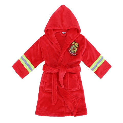 Arctic Paw Heroes Soft Hooded Terry Bathrobe - Fire Chief