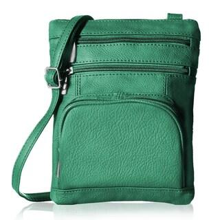 AFONiE Super Soft Leather Crossbody Bag - 8 Colors (Option: Green)