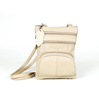 AFONiE Super Soft Leather Crossbody Bag - 8 Colors (Option: Beige)