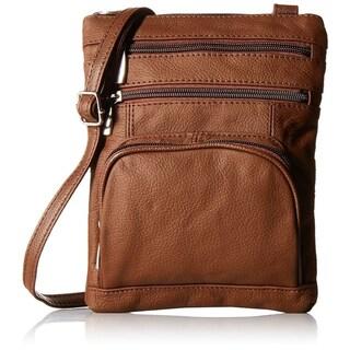 AFONiE Super Soft Leather Crossbody Bag - 8 Colors (Option: Brown)